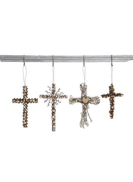 Metal Cross Ornament XC7611A