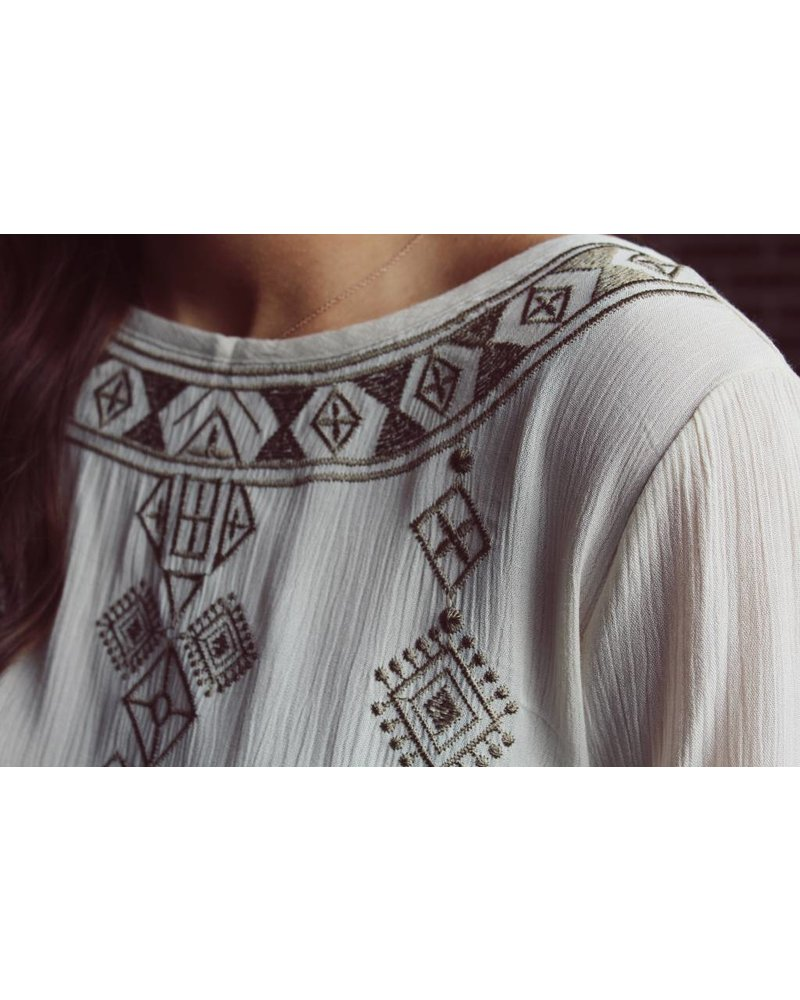Boho Embroidery Top