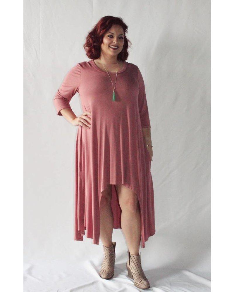 Mauve High-Low Dress