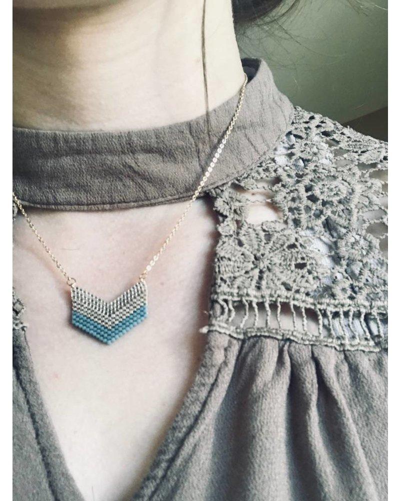 Gold Tone Arrow Necklace