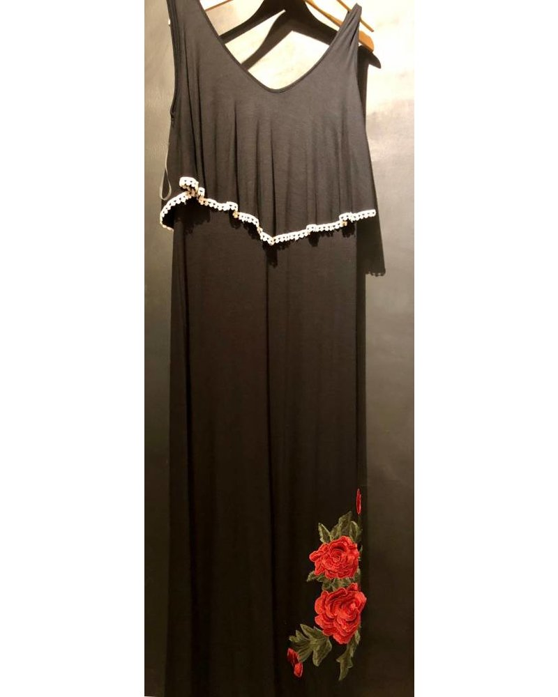 Black Rose Maxi Dress JD11221
