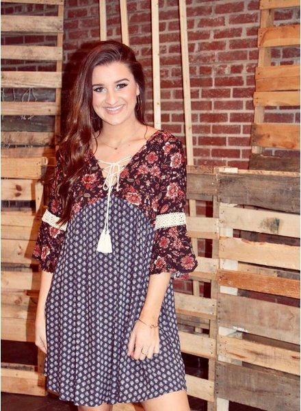 Heather Peasant Dress