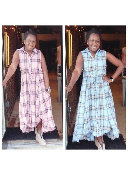 Jodifl Plaid Shirt Dress