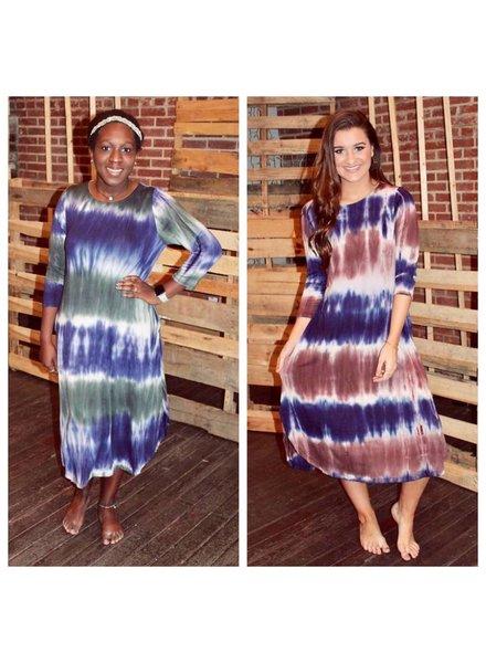 Tye Dye Midi Dress