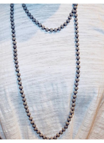 Natural Stone Matte slate bead necklace