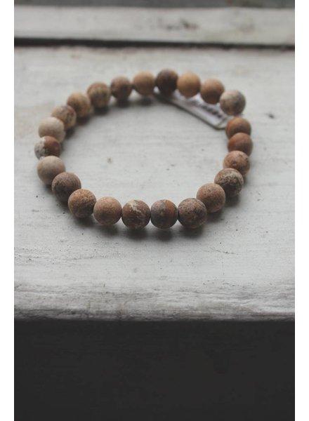 Natural Stone Desert Sands Bead Bracelet