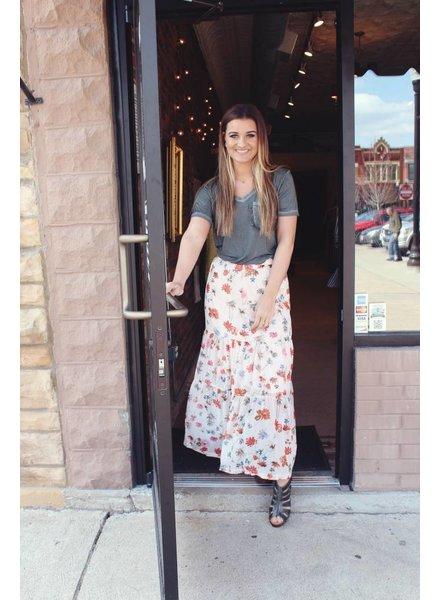 Sheer Floral Skirt