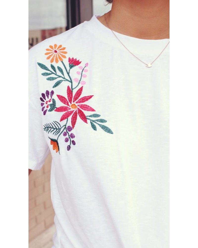 Embroidery Knot Top