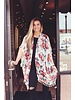 Cream/Pink Rose Tassel Kimono