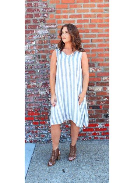 Lauren Stripe Swing Dress