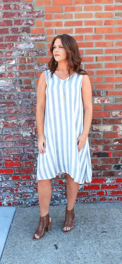 poppie boutique stripe strip s lauren swing dress