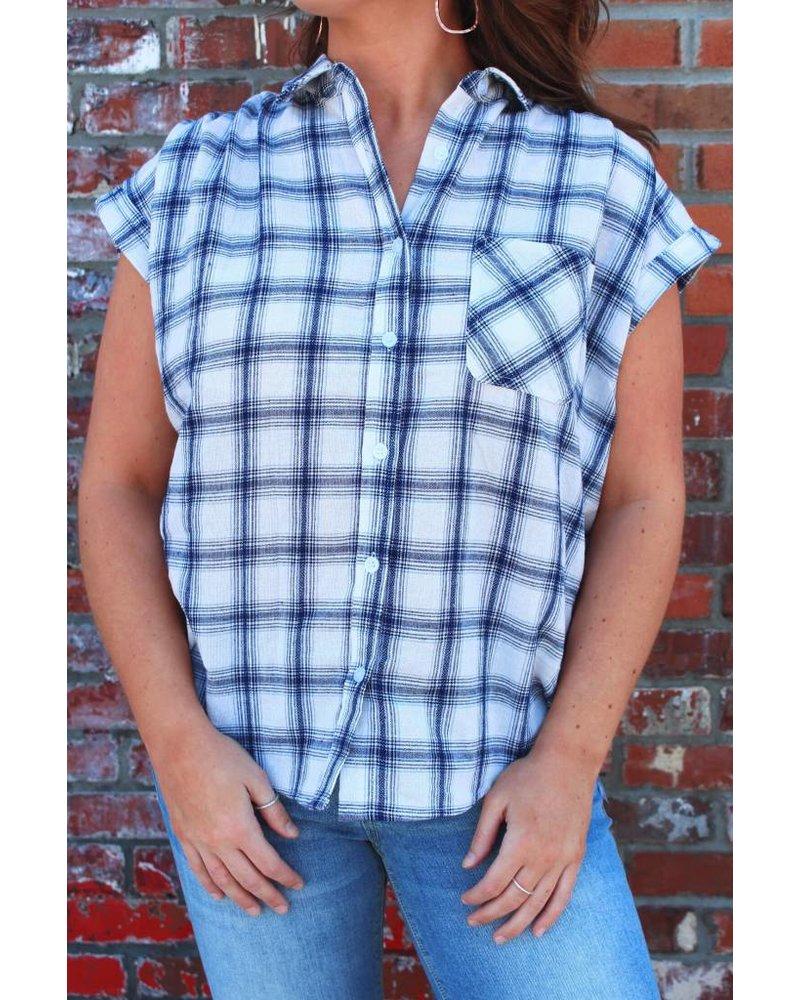 Plaid Dolman Shirt