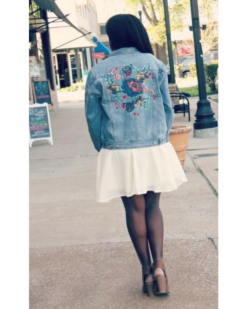 Boho Blue Jean Jacket