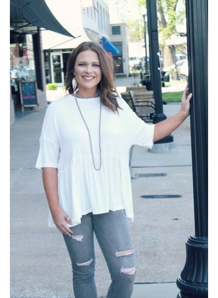 Listicle Essential Peplum Tunic