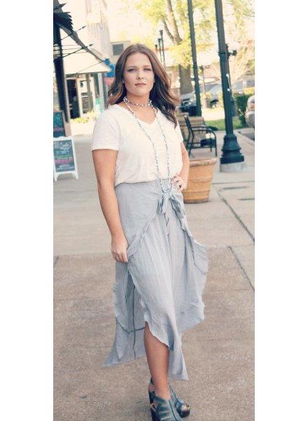 Listicle Joy Ruffle Wrap Skirt
