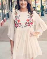 Burnout Embroidery Dress