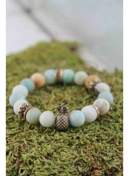 Mint Pineapple Bracelet