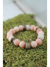 Peach Pineapple Bracelet