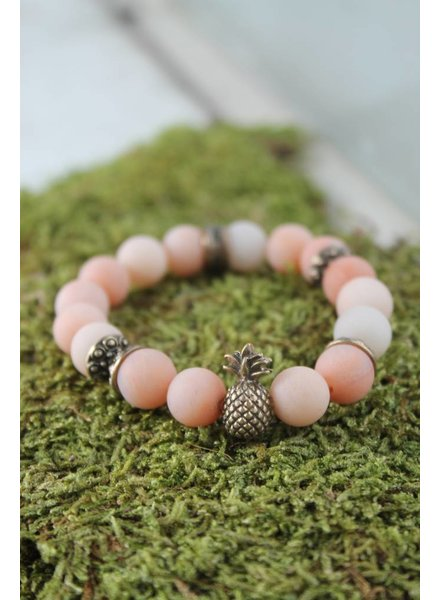 Peach Pineapple Bracelet