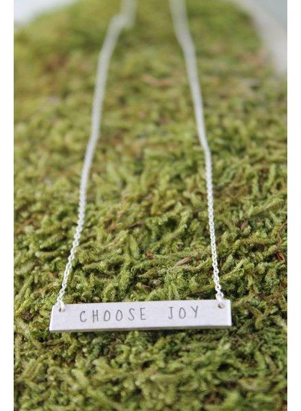 Choose Joy Bar Necklace