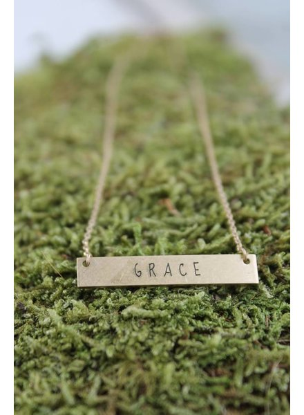 "Dainty ""Grace"" Bar Necklace"