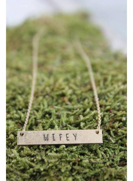 Wifey Bar Necklace