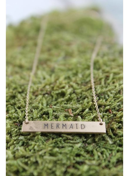 "Dainty ""Mermaid"" Bar Necklace"