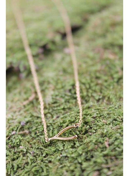 Wishbone Dainty Necklace