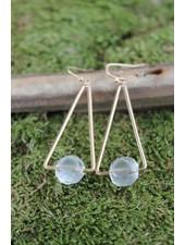 Triangle Single Bead Earring