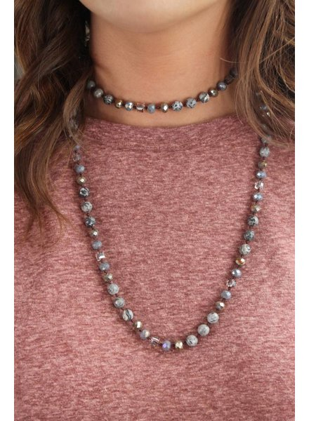 Speckled Sparkle Bead Necklace