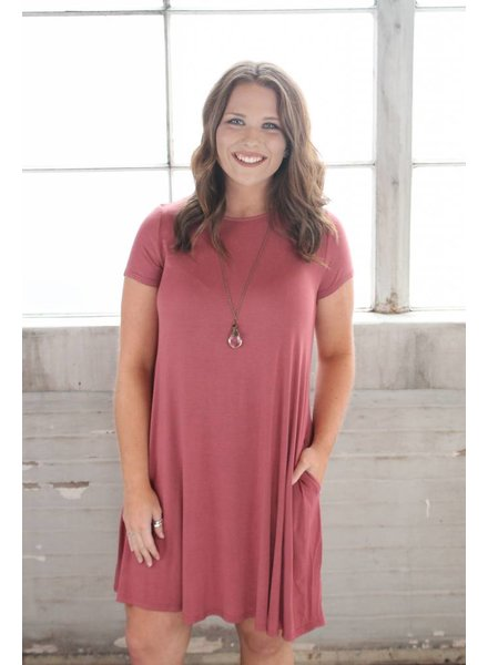 Marsala Bamboo Swing Dress