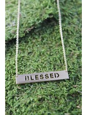 Blessed Block Necklace Gold