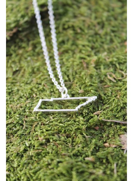 TN Outline Necklace Silver