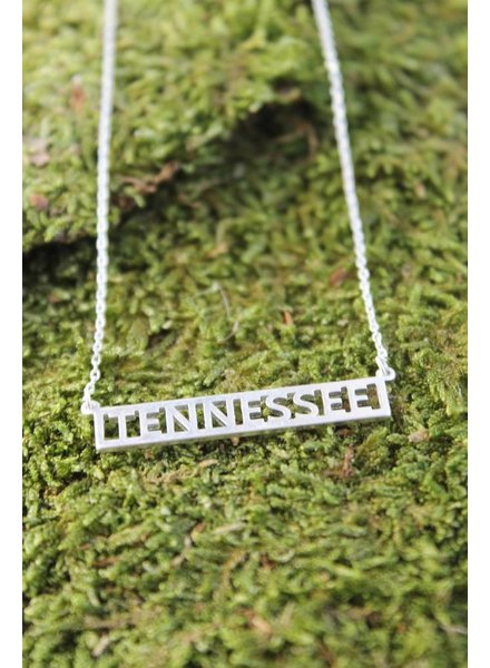 Tennessee Block Necklace Silver