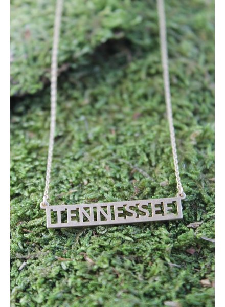 Tennessee Block Necklace Gold