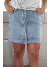 Loveriche Twiggy Denim Skirt