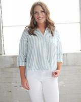 Listicle Lexie Stripe Cross Tunic LT0312