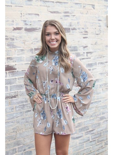 Petals & Coffee Romper