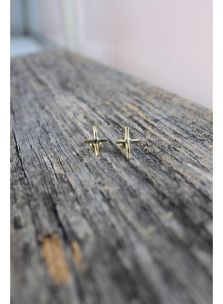 Karama Karama Petite Cross Earrings