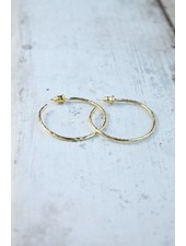 Karama Karama Medium Hammered Hoops