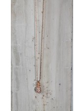Pineapple Necklace Rose Gold