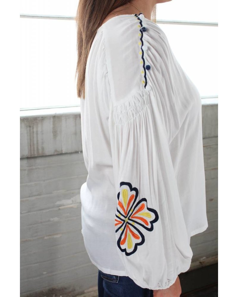 Phoebe Embroidery Tunic White