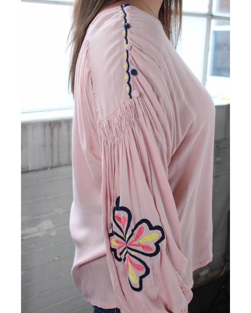 Phoebe Embroidery Tunic Peach
