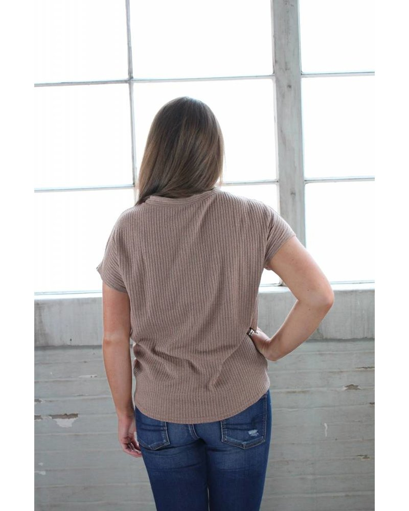 Listicle Sophie Button and Tie Top