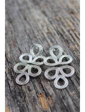 Golden Stella Tori Silver Earrings