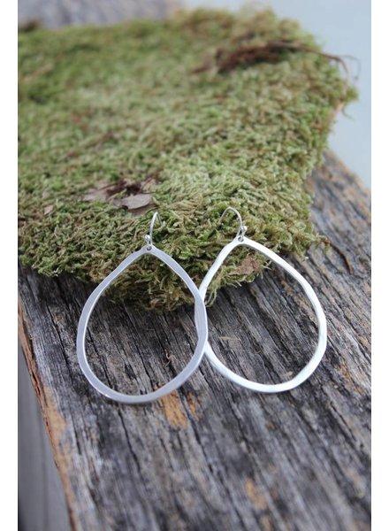 Matte Silver hoops