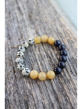 Golden Stella Gypsy Speckled Bead Bracelet