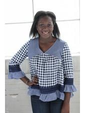 Listicle Boho Gingham Girl Tunic LT0317