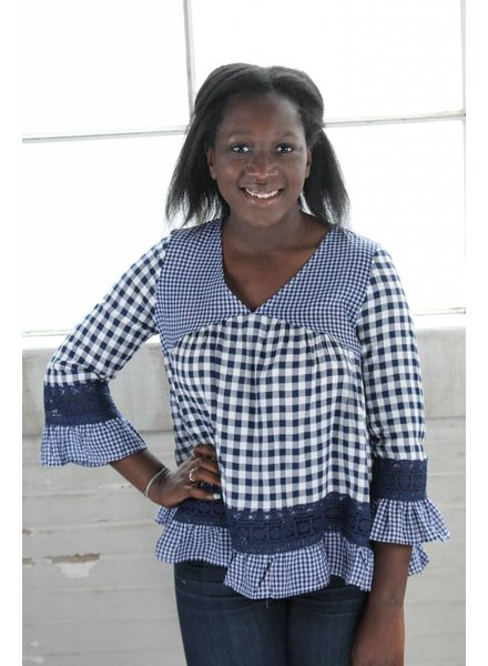 Listicle Boho Gingham Girl Tunic LT0317