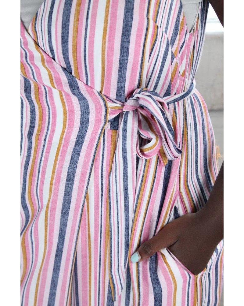 Listicle Glenda Stripe Wrap Jumper LRP0156
